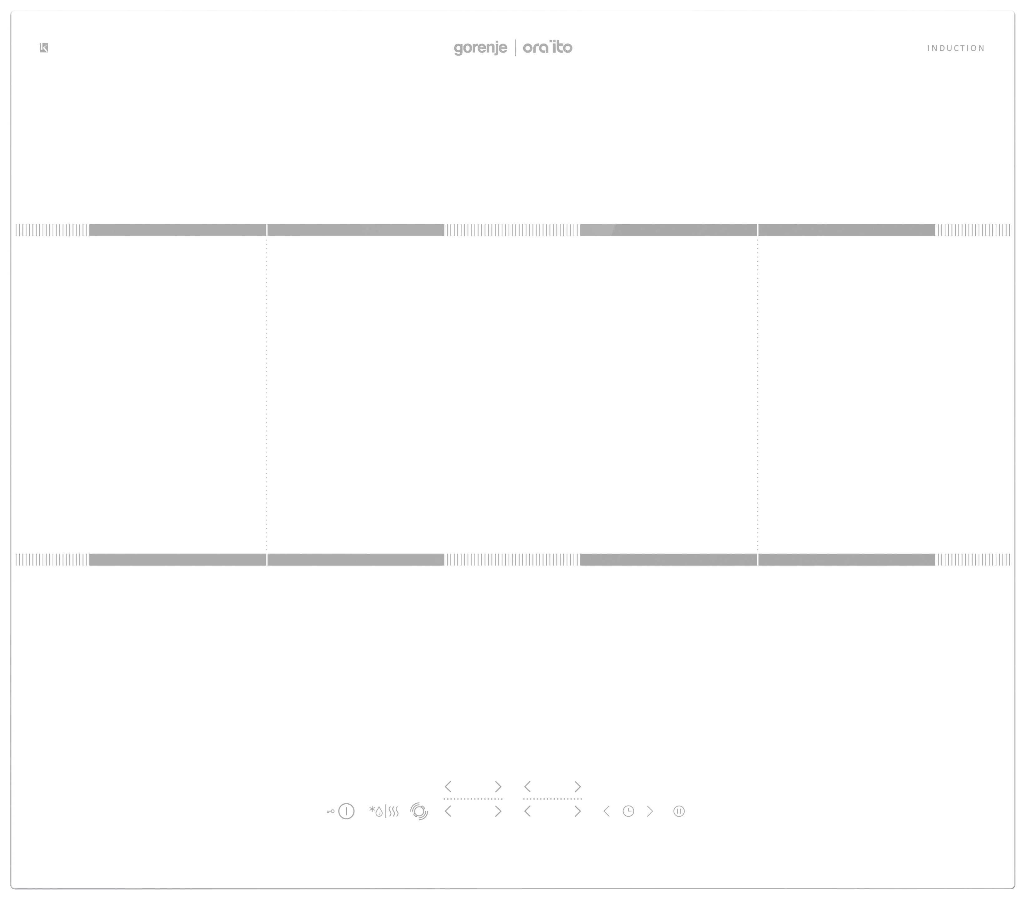 Встраиваемая варочная панель индукционная Gorenje IT646ORAW White
