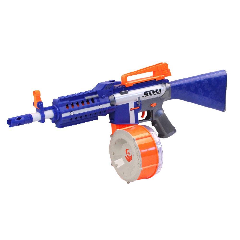 Купить Автомат c мягкими пулями, в комплекте 40 пуль и мишень (201064), Джамбо, Стрелковое игрушечное оружие
