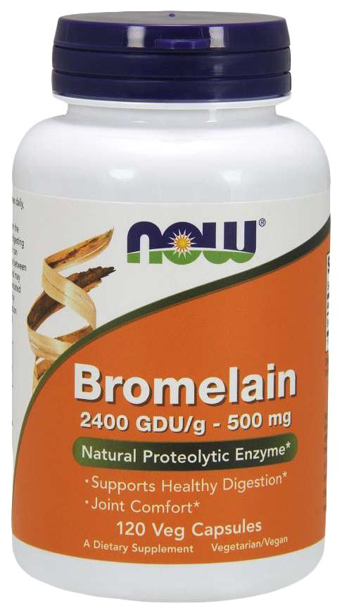 Купить Для пищеварения NOW Bromelain 500 мг120 капсул