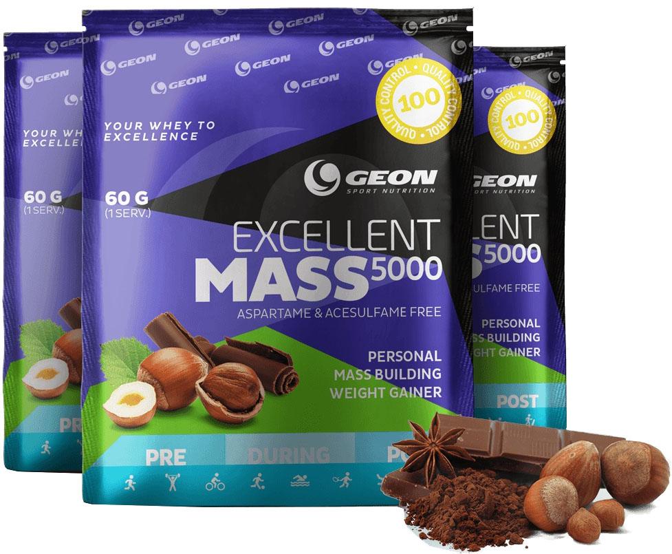 Гейнер Geon Excellent Mass 5000 920 г лесной орех с шоколадом фото