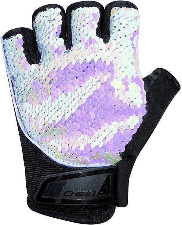 Перчатки для фитнеса женские Chiba Lady Line Glamour, белые, S INT