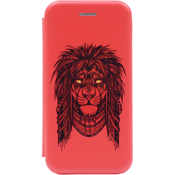 Чехол Gosso Cases для Huawei Honor 7A/Y5 Prime (2018) «Grand Leo» Red