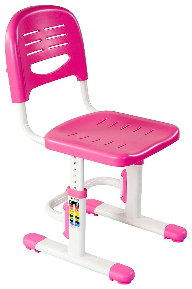 Детский стул FunDesk SST3L (цвет каркаса: белый, цвет товара: розовый)