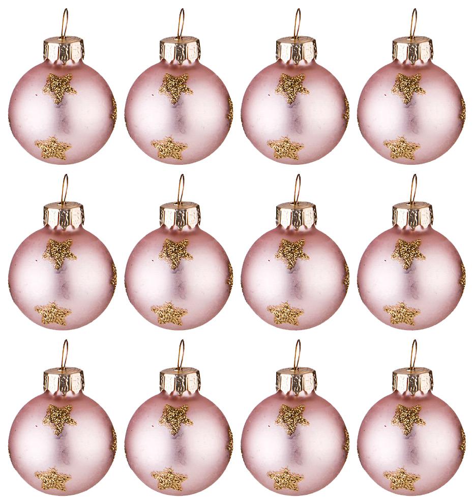 Набор елочных игрушек Lefard Розовые Шарики