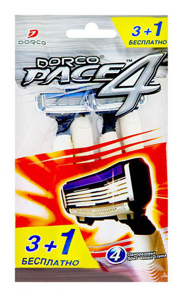 Станок для бритья Dorco PACE4 4 шт.