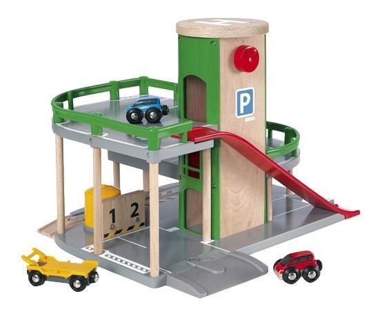 Купить Парковка для машин деревянной железной дороги Brio 33204, Детские парковки
