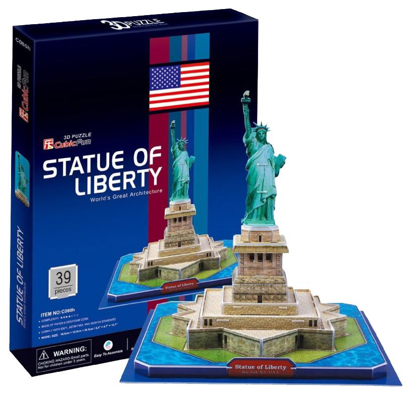 Купить Пазл Cubic Fun 3D C080h Кубик фан Статуя Свободы (США), CubicFun, Пазлы