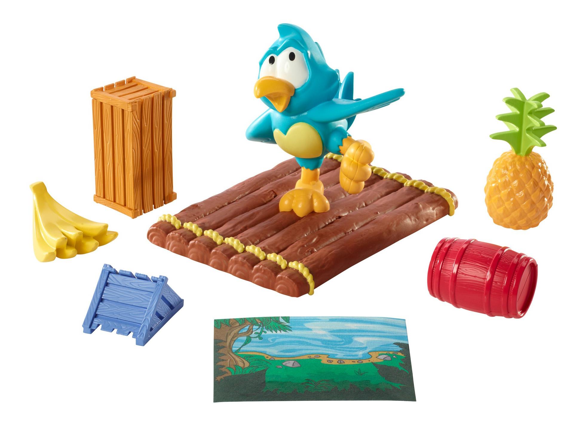 Купить Семейная настольная игра Mattel настольная игра Попугай на плоту Y2551, Семейные настольные игры