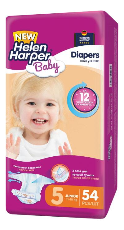 Купить Подгузники Helen Harper Baby Junior (11-18 кг), 54 шт.,