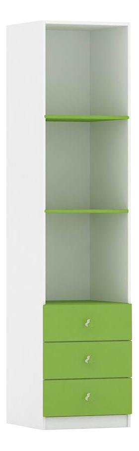Шкаф детский Фея с ящиками белый-лайм 0001071.6