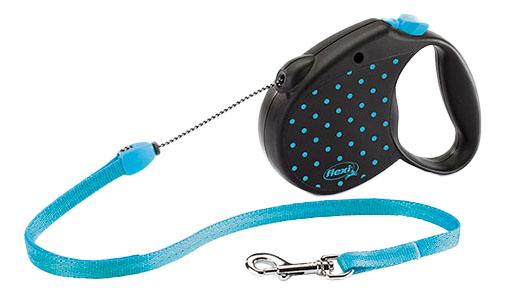 Рулетка-поводок FLEXI Color S до 12кг, 5м голубая