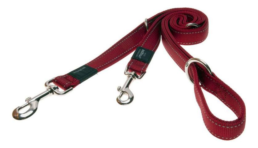 Поводок перестежка для собак Rogz Utility M-16мм 1,8 м (Красный HLM11C)