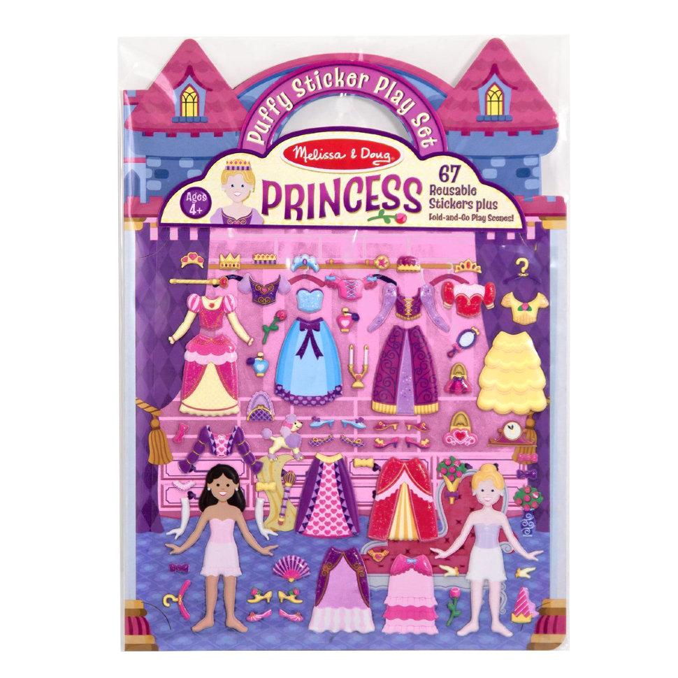 Купить Набор для творчества Melissa&Doug творчество Со Стикерами и Фоном принцессы (9100), Melissa & Doug, Книги по обучению и развитию детей