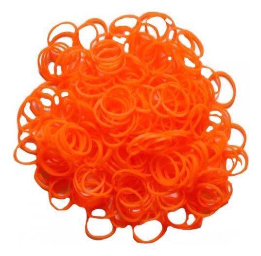 Плетение из резинок Rainbow Loom Solid Bands - Orange