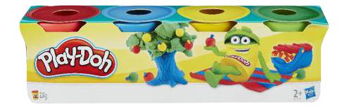 Купить 23241EU4, Набор для лепки из пластилина Play-doh 4 мини баночки, Лепка