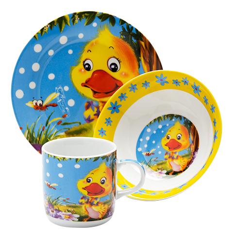 Набор детской посуды LORAINE 3 предмета