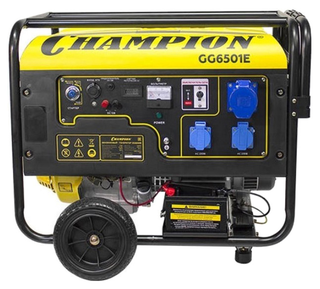 Бензиновый генератор CHAMPION GG6501E+ATS фото