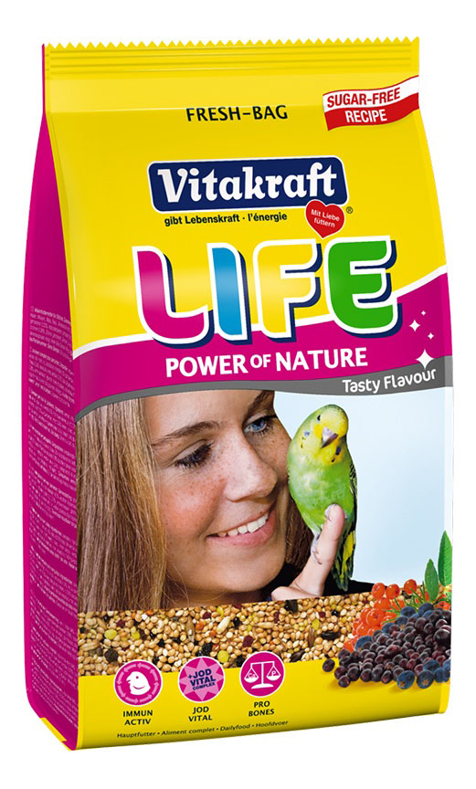 Основной корм Vitakraft для волнистых попугаев 800 г, 1 шт