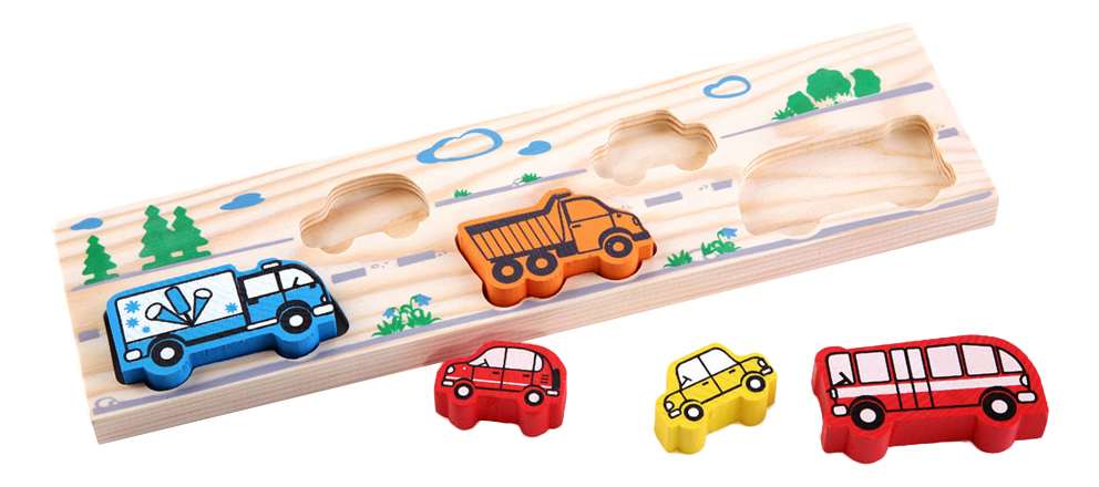 Деревянная игрушка для малышей Томик Транспорт