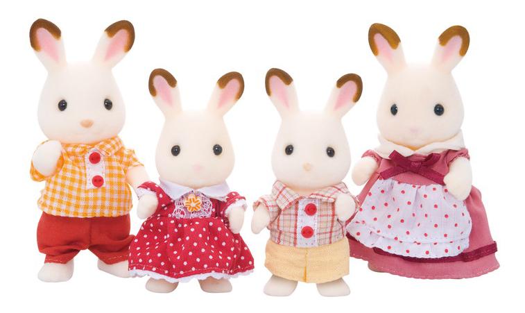 Игровой набор Sylvanian Families Семья Шоколадных Кроликов фото