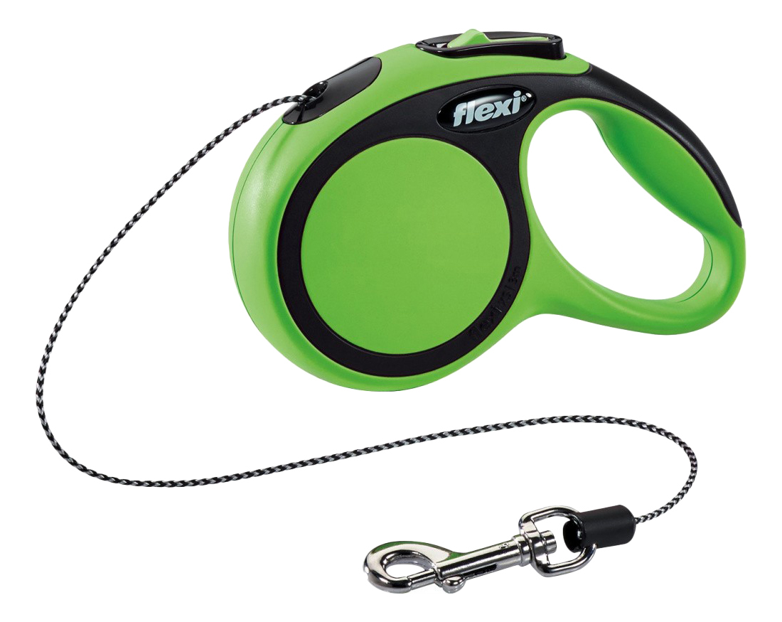Поводок-рулетка для собак flexi New Comfort, лента, зеленый, XS, до 12 кг, 3 м