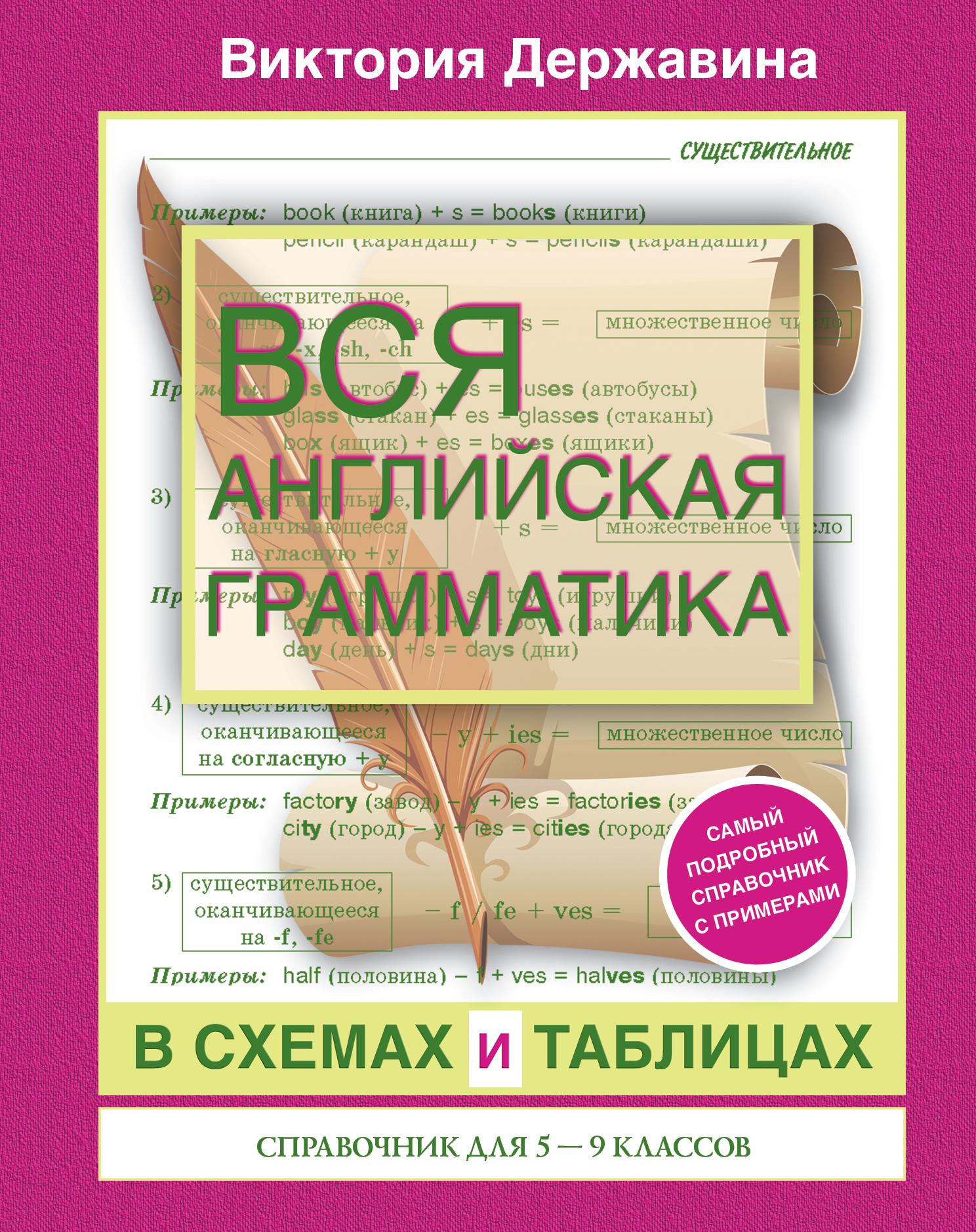 Вся Английская Грамматика В Схемах и таблицах: Справочник для 5-9 классов