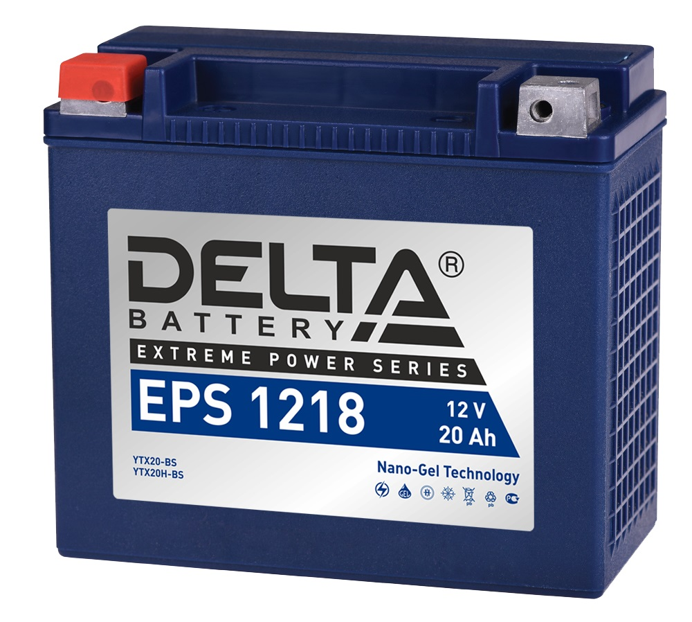 Аккумулятор автомобильный автомобильный Delta EPS 1218 20 Ач фото