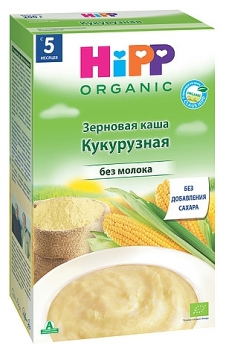 Купить Каша безмолочная HiPP Кукурузная с 5 мес. 200 г,