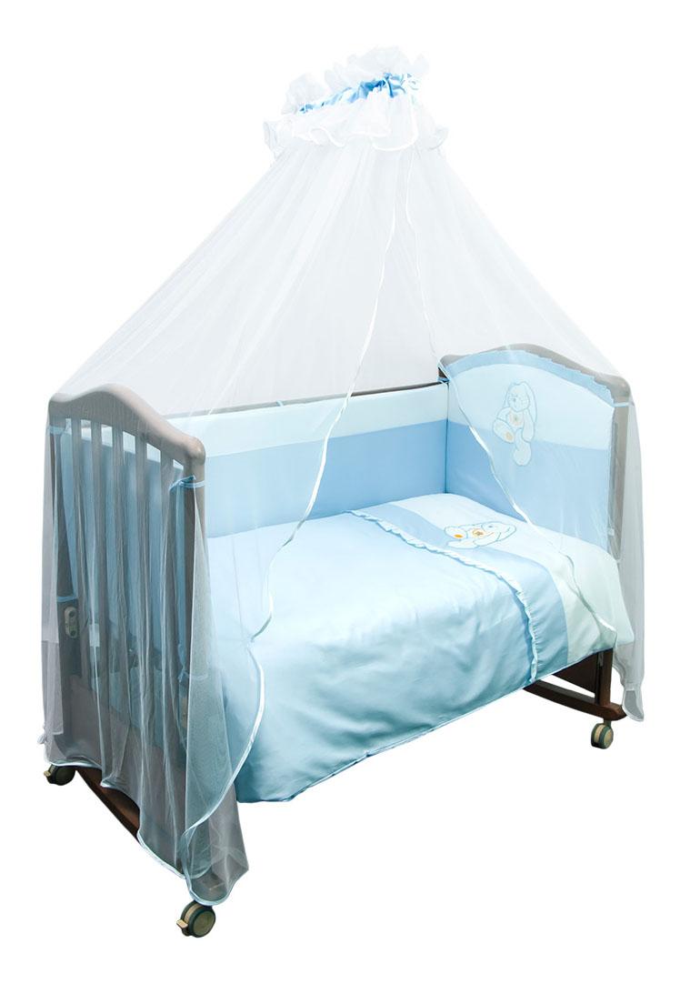 Комплект детского постельного белья Сонный гномик Пушистик голубой Сонный гномик Постельный сет 7 предметов Сонный гномик Пушистик