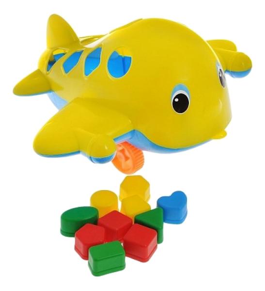 Купить Самолет Кит с логическими фигурами, Игрушка-сортер Самолет-Кит с логическими фигурами Спектр У494, Развивающие игрушки