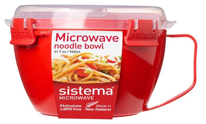 Кружка для лапши Sistema Microwave 1109 Красный