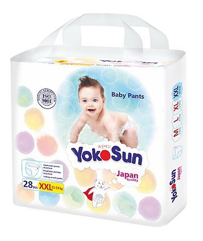 Купить Baby Pants, Подгузники-Трусики YokoSun 15-23 кг 28 шт (XXL), Подгузники-трусики