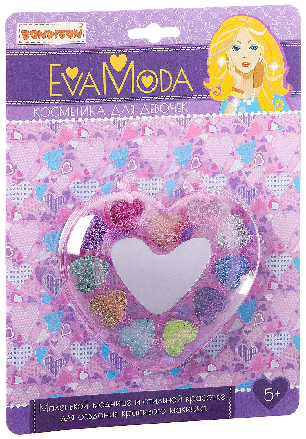 Купить Набор детской косметики Bondibon Eva Moda Сердце с тенями,