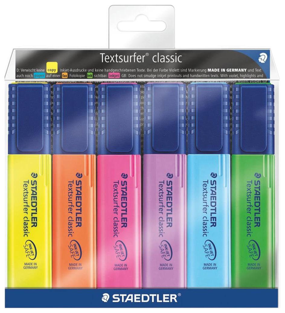 Набор маркеров-текстовыделителей Staedtler Textsurfer Classic 364 серии 6 цветов 364-WP603