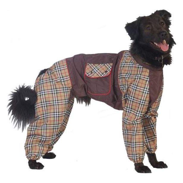 Комбинезон для собак ТУЗИК размер L женский, коричневый, длина спины 31 см