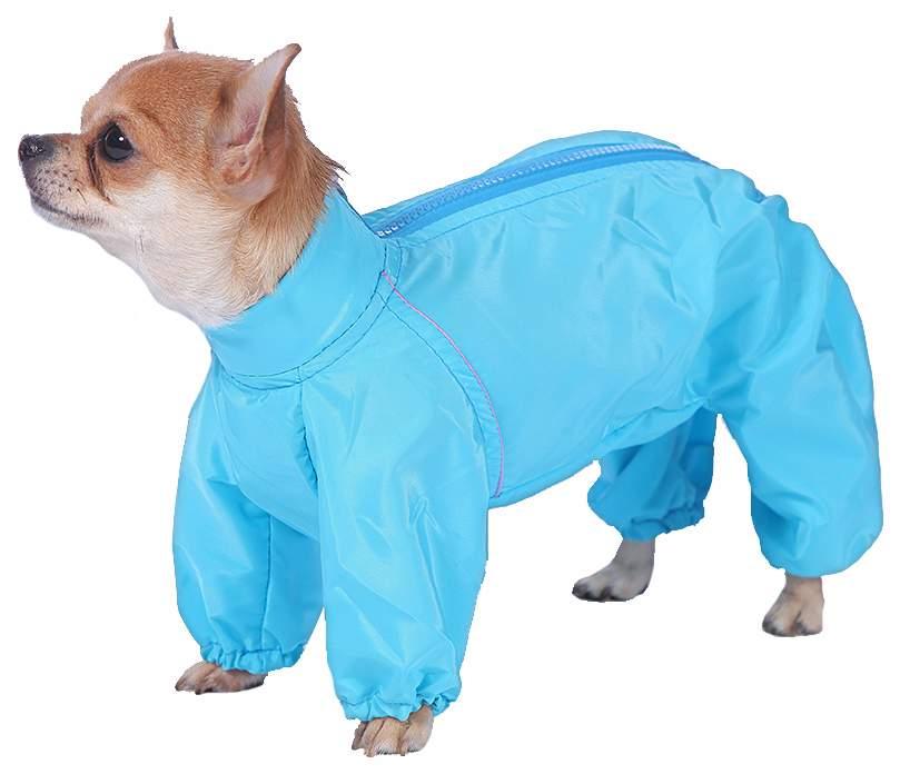 Комбинезон для собак ТУЗИК размер M мужской, голубой, длина спины 30 см