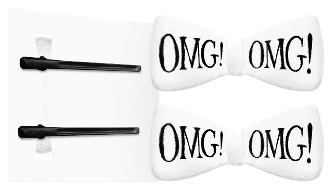Купить Заколки для волос Double Dare OMG! Белые 2 шт