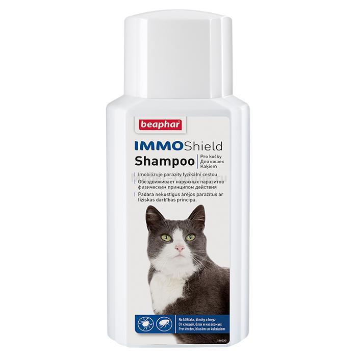 Шампунь для кошек Beaphar Immo Shield против блох и клещей, диметикон, 250 мл