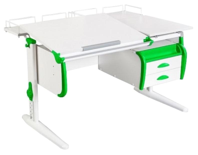 Парта Дэми White Double СУТ-25-04 Белый/Зеленый