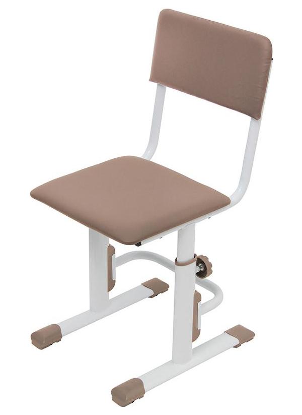 Детский стул для школьника регулируемый Polini Kids City/Polini Kids Smart S, Белый/Макиат