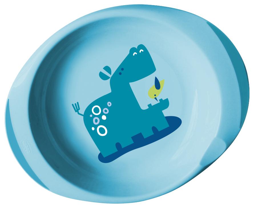 Chicco набор тарелок 2 штуки цвет голубой