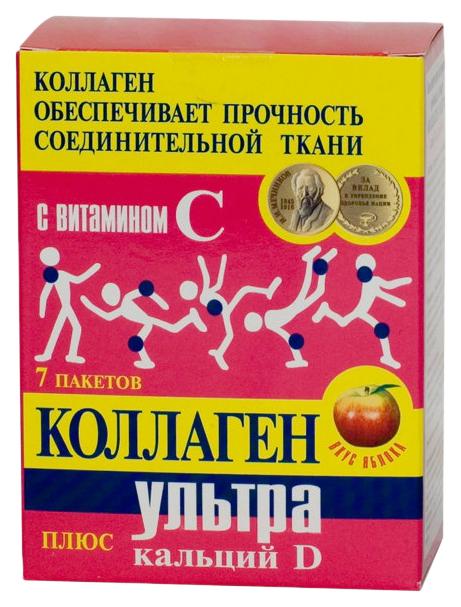 Коллаген ультра+кальций-D пор, 8г N7 (яблоко)