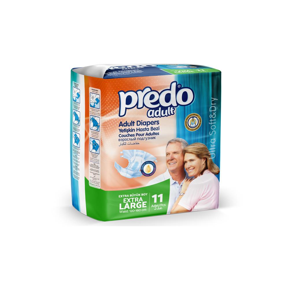 Подгузники для взрослых Predo Adult Маленькая пачка XL 11 шт.