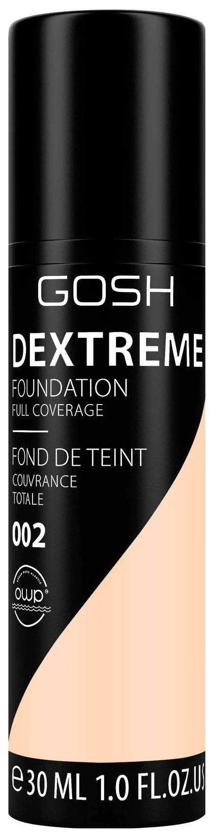 Купить Тональный крем Gosh Dextreme Full Coverage Foundation 002 Ivory 30 мл, GOSH COPENHAGEN