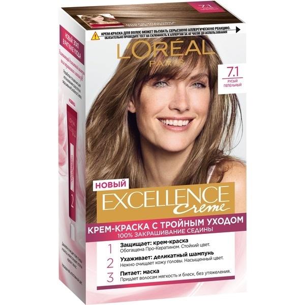 Крем-краска для волос L\'Oreal Excellence стойкая тон 7.1 \
