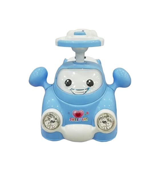Машина-каталка Малышок голуб., гудок, свет, звук, эл.пит. АА*2 не вх.в компл., кор