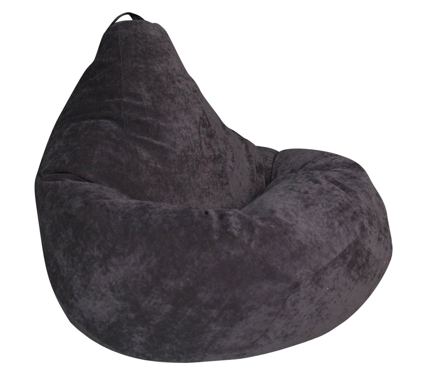 Кресло-мешок DreamBag Кресло-мешок, размер XXL, велюр, темно-серый фото