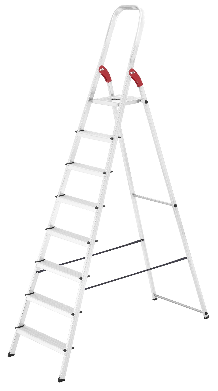 Стремянка алюминиевая Hailo L9 8928-901, 8 ступеней