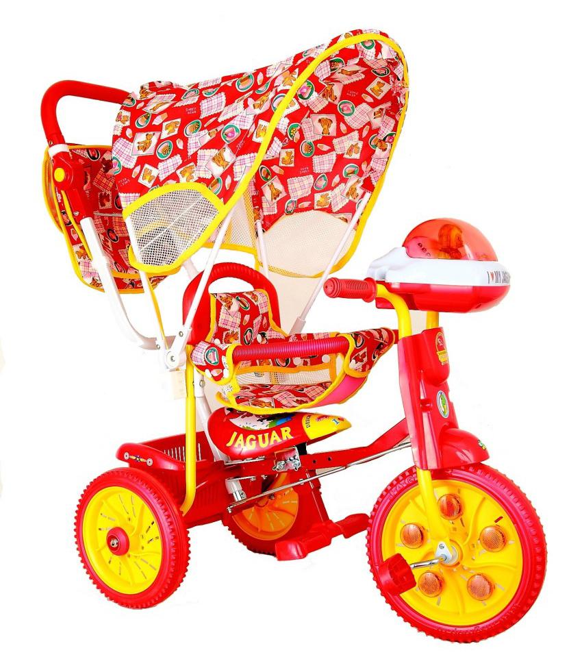 Купить Детский трехколесный велосипед Jaguar красный, Детские велосипеды-коляски