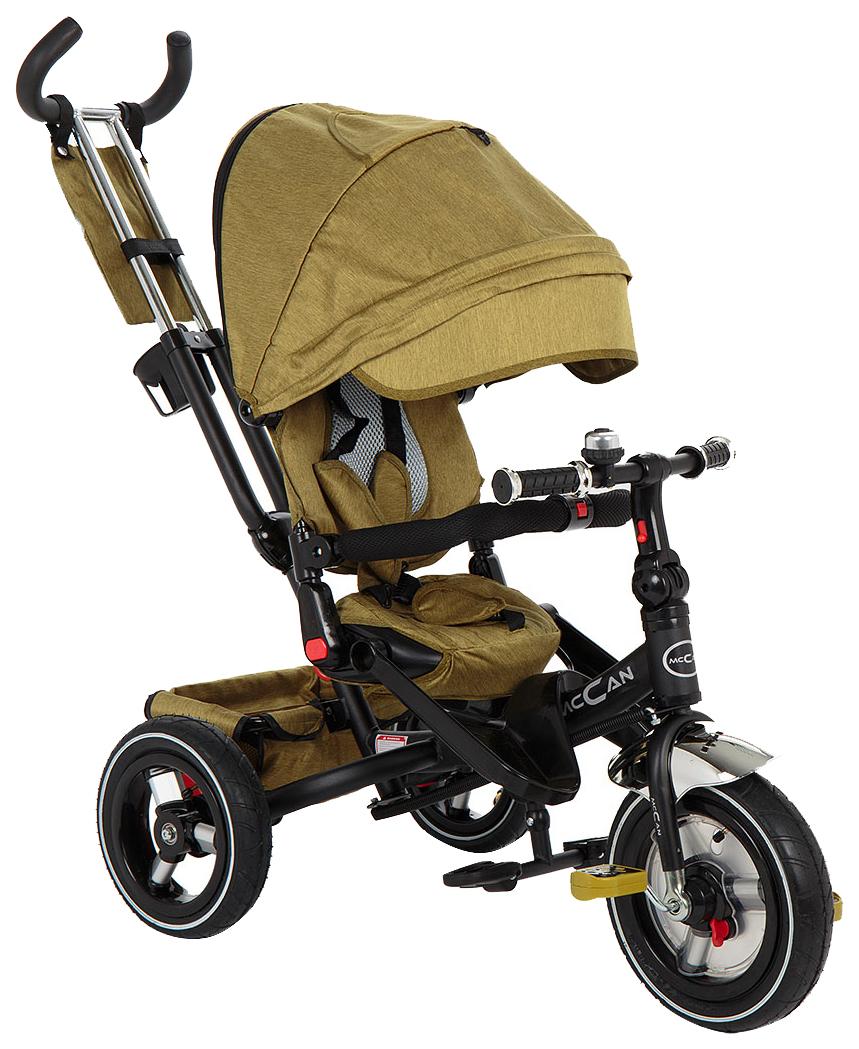 Купить Детский трёхколёсный велосипед McCan M-8 зеленый лён, Детские велосипеды-коляски